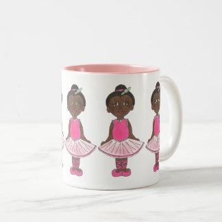 Pink Ballet Tutu Ballerina Dance Teacher Recital Two-Tone Coffee Mug