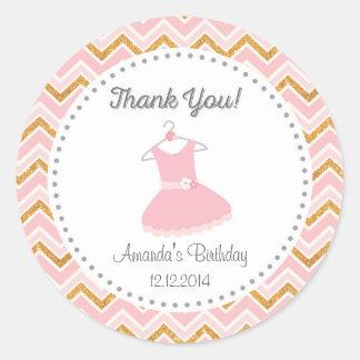 Pink Ballet Tutu Birthday Sticker