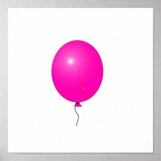 pink balloon poster
