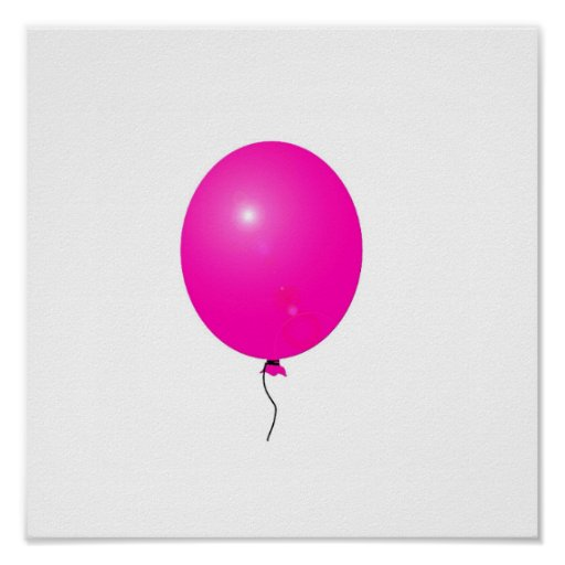 pink balloon poster