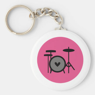 pink band (drum) key ring
