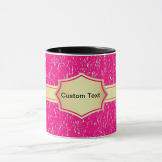 pink banner custom text coffee mug