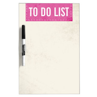 Pink Banner Design Dry Erase Board
