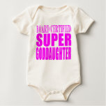 Pink Baptisms & Birthdays : Super Goddaughter Baby Bodysuits