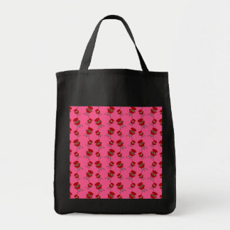 pink barbeque pattern canvas bags
