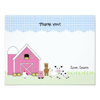 Pink Barn Farm birthday thank you notes Card