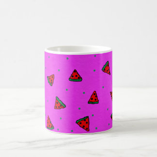 pink basic mug with watermelon design