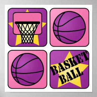 PInk Basketball Poster