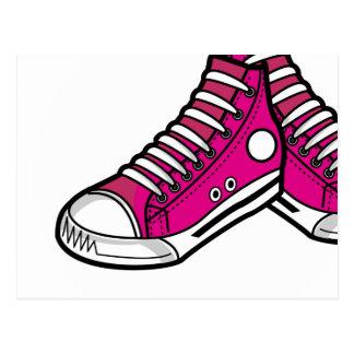 Pink Basketball Sneaker Postcard