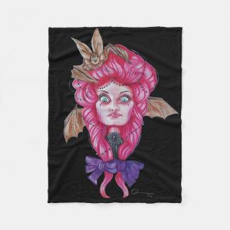 Pink Bat Girl Throw Fleece Blanket