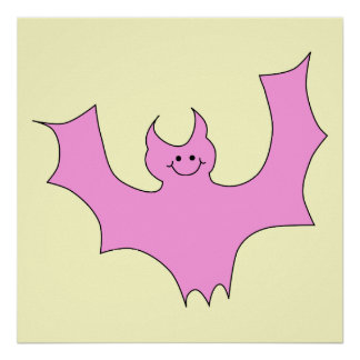 Pink Bat Poster