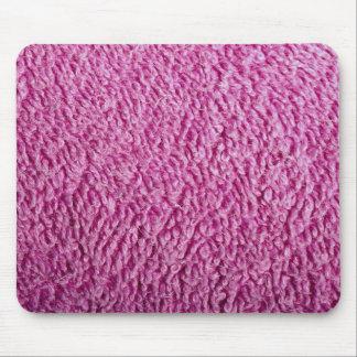 Pink bath towel mouse pads