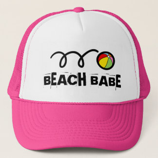 Pink beach babe hat for girls