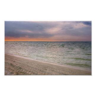 Pink Beach Photo Print