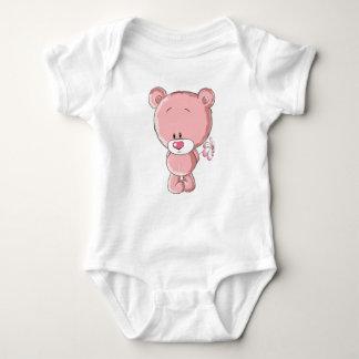 Pink Bear Baby Jersey Bodysuit