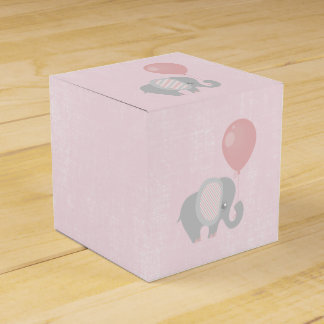Pink Beautiful Baby Elephant Favour Box
