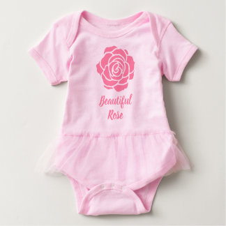 Pink Beautiful Rose Baby Tutu Bodysuit