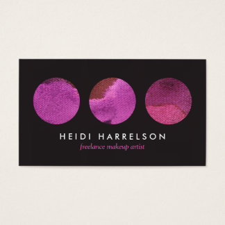Pink Beauty Palette for Freelance Makeup Artist Business Card
