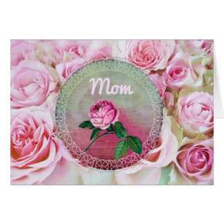 Pink Bed of Roses Mother's Day Card