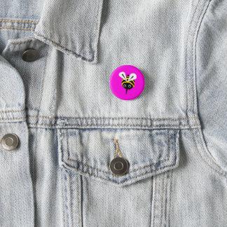 Pink Bee Badge