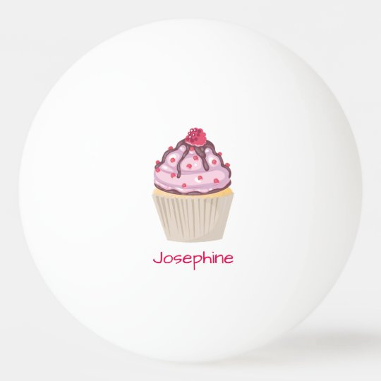 Pink Berry Cupcakes Ping Pong Ball