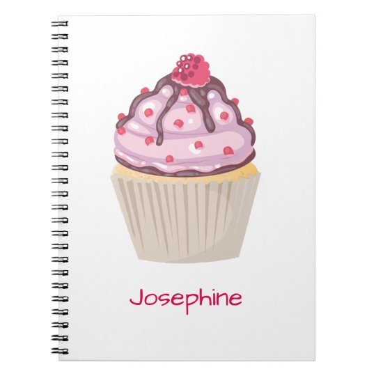 Pink Berry Cupcakes Spiral Notebook