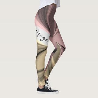 Pink Berry Latte Cream Swirl Yoga Exercise Design Leggings