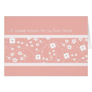 Pink Best Friend Maid of Honour Invitation Card