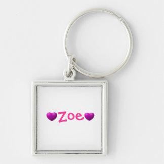 Pink best friends keychain