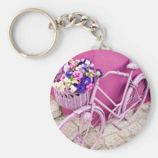 Pink Bicycle Key Ring