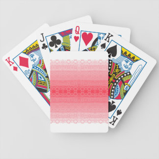 pink bicycle playing cards