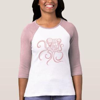 Pink Big Hurt Alien Octopus Girls BASEBALL T-Shirt