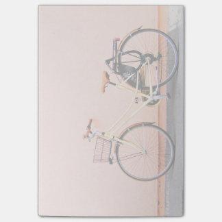 Pink Bike Basket Bicycle Two Wheel Post-it Notes