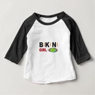 pink bikini girl logo baby T-Shirt