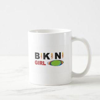 pink bikini girl logo coffee mug