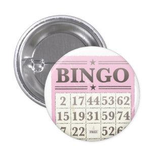 Pink Bingo Score Card 3 Cm Round Badge