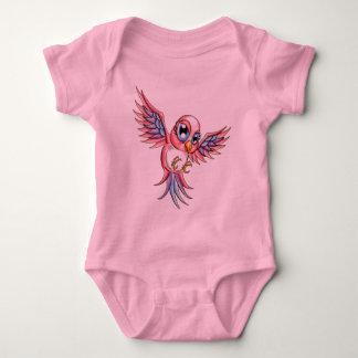 Pink Bird Baby Bodysuit
