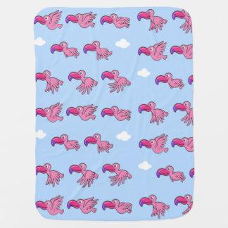 Pink Birds Baby Blanket