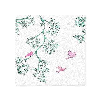 Pink Birds Canvas Print