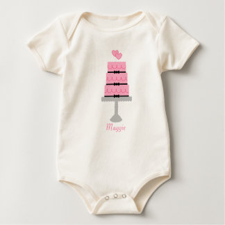 Pink Birthday Cake Rompers