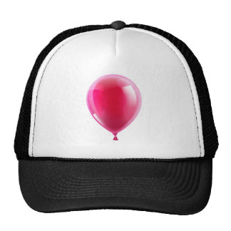 Pink birthday or party balloon trucker hats