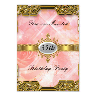 Pink Birthday Party Glamour Hot Invitation