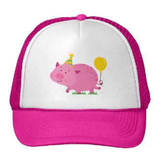 Pink Birthday Party Pig Cap