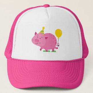 Pink Birthday Party Pig Trucker Hat
