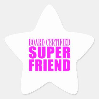 Pink Birthdays & Christmas : Super Friend Star Sticker