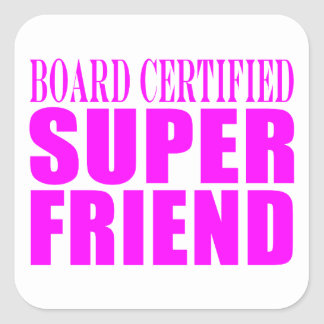 Pink Birthdays Christmas Super Friend Stickers