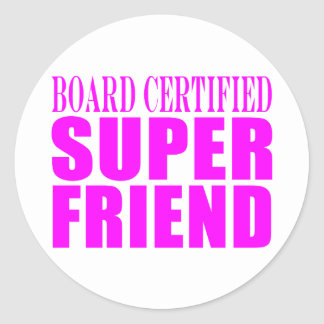 Pink Birthdays Christmas Super Friend Sticker
