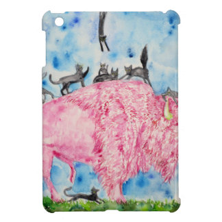 pink bison and black cats cover for the iPad mini