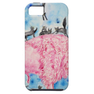 pink bison and black cats tough iPhone 5 case