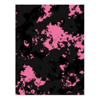 Pink black and gray SPlatter Postcard